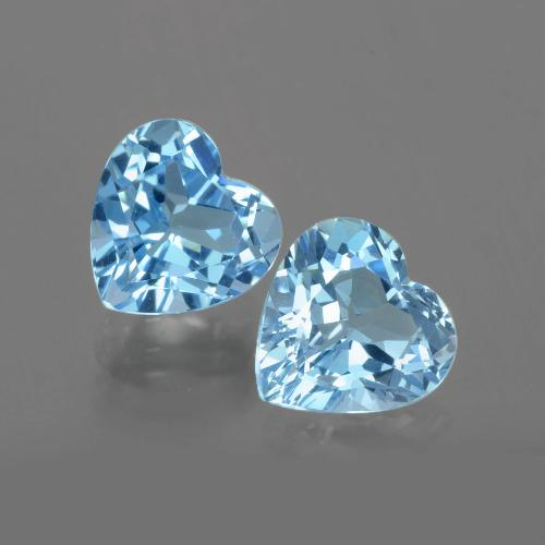 Swiss Blue Topaz Gem - 3.1ct Heart Facet (ID: 404479)