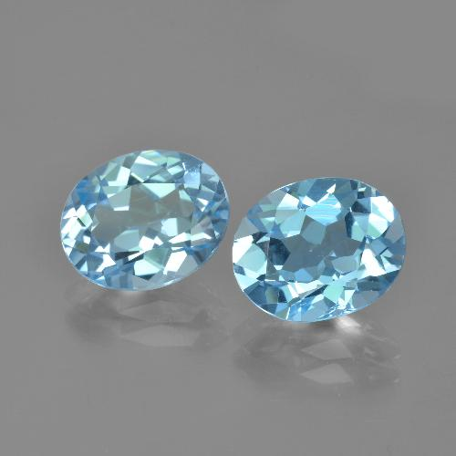 Baby Blue Topaz Gem - 3.1ct Oval Facet (ID: 404555)