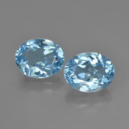 Swiss Blue Topaz Gem - 2.9ct Oval Facet (ID: 404559)