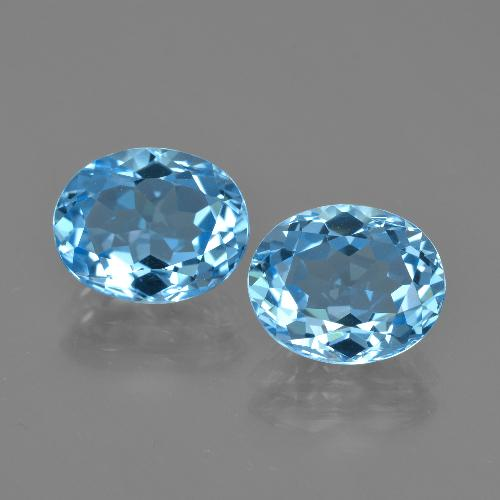 Swiss Blue Topaz Gem - 3.2ct Oval Facet (ID: 404563)