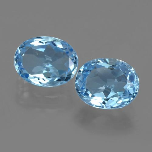 Swiss Blue Topaz Gem - 3.3ct Oval Facet (ID: 404565)