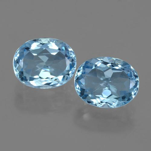 Swiss Blue Topaz Gem - 3.6ct Oval Facet (ID: 404566)