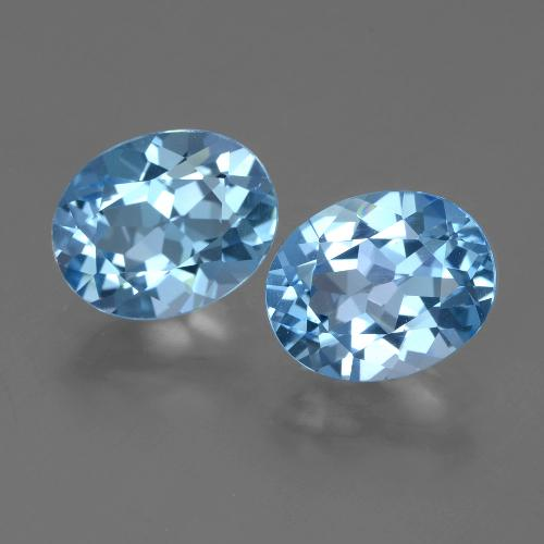 Blue Topaz Gem - 3.2ct Oval Facet (ID: 404575)