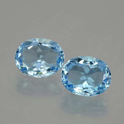 Swiss Blue Topaz Gem - 3.4ct Oval Facet (ID: 404629)