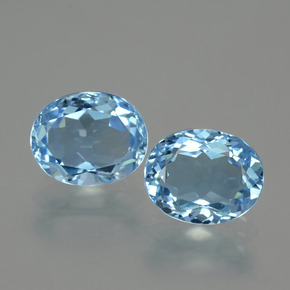 Swiss Blue Topaz Gem - 3.4ct Oval Facet (ID: 404630)