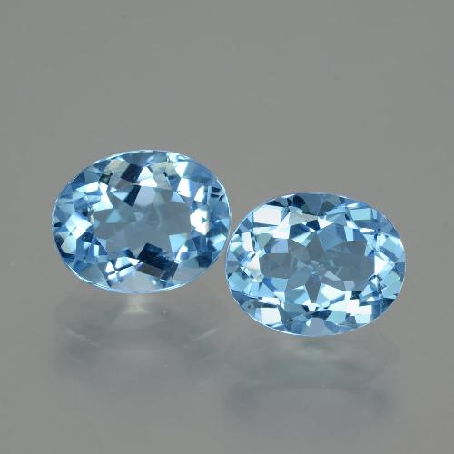 Swiss Blue Topaz Gem - 3.3ct Oval Facet (ID: 404631)
