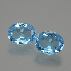 Deep Blue Topaz Gem - 3.5ct Oval Facet (ID: 404632)