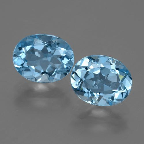 Swiss Blue Topaz Gem - 3.3ct Oval Facet (ID: 404680)