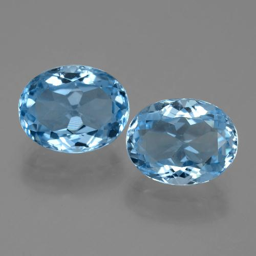 Swiss Blue Topaz Gem - 3.5ct Oval Facet (ID: 404681)