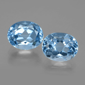 Medium Blue Topaz Gem - 3.6ct Oval Facet (ID: 404682)