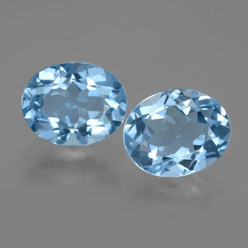 Swiss Blue Topaz Gem - 3ct Oval Facet (ID: 404683)