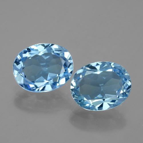 Swiss Blue Topaz Gem - 3.1ct Oval Facet (ID: 404746)