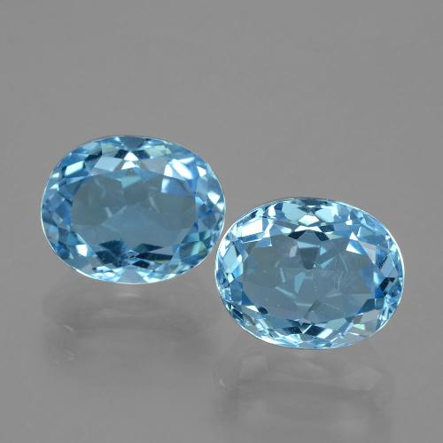 Swiss Blue Topaz Gem - 3.5ct Oval Facet (ID: 404751)