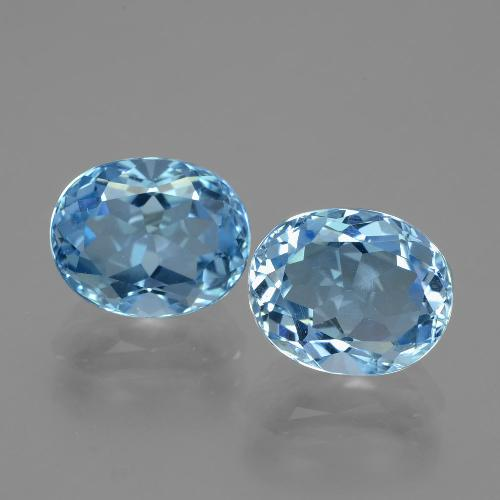 Blue Topaz Gem - 3.5ct Oval Facet (ID: 404756)