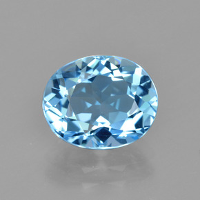 Swiss Blue Topaz Gem - 3.3ct Oval Facet (ID: 404800)