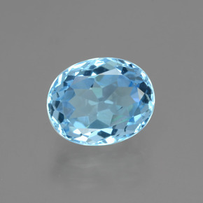 Sky Blue Topaz Gem - 3.8ct Oval Facet (ID: 404874)