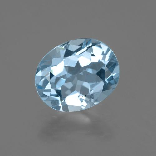 Baby Blue Topaz Gem - 3.1ct Oval Facet (ID: 404896)