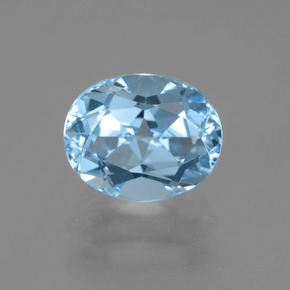 Sky Blue Topaz Gem - 3.6ct Oval Facet (ID: 404901)