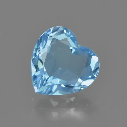 2.9ct Heart Facet Sky Blue Topaz Gem (ID: 404940)