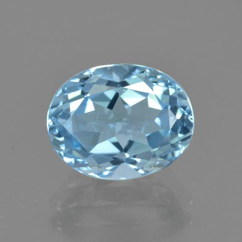Sky Blue Topaz Gem - 3.3ct Oval Facet (ID: 404942)
