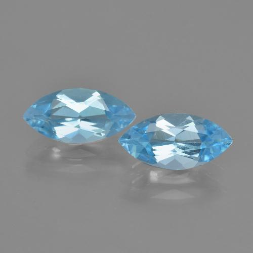 Swiss Blue Topaz Gem - 1.3ct Marquise Facet (ID: 405076)