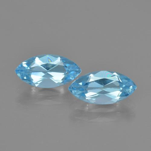 Swiss Blue Topaz Gem - 1.3ct Marquise Facet (ID: 405078)