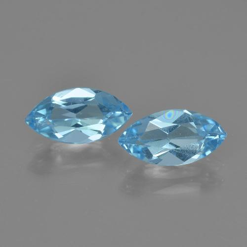 Swiss Blue Topaz Gem - 1.3ct Marquise Facet (ID: 405079)
