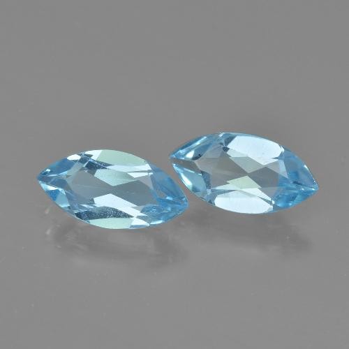 Swiss Blue Topaz Gem - 1.2ct Marquise Facet (ID: 405083)