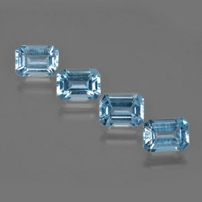 Swiss Blue Topaz Gem - 1.1ct Octagon Facet (ID: 405117)