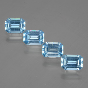 Swiss Blue Topaz Gem - 1.1ct Octagon Facet (ID: 405240)