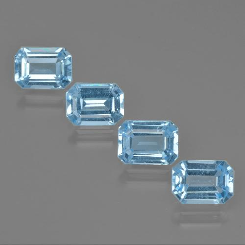 Swiss Blue Topaz Gem - 1.2ct Octagon Facet (ID: 405323)
