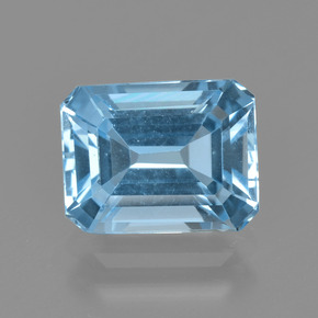 Swiss Blue Topaz Gem - 2.9ct Octagon Facet (ID: 405656)