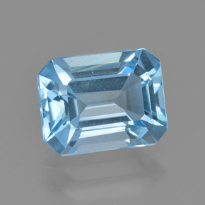 Swiss Blue Topaz Gem - 2.8ct Octagon Facet (ID: 405659)