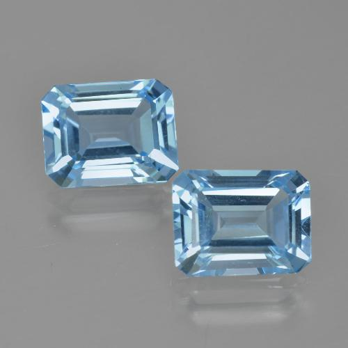 Swiss Blue Topaz Gem - 3ct Octagon Facet (ID: 405679)