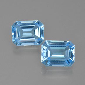Swiss Blue Topaz Gem - 2.5ct Octagon Facet (ID: 405687)