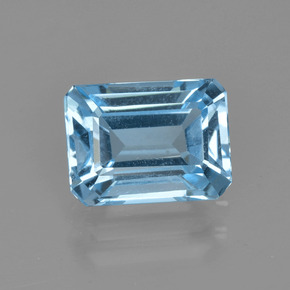Swiss Blue Topaz Gem - 2.7ct Octagon Facet (ID: 405728)