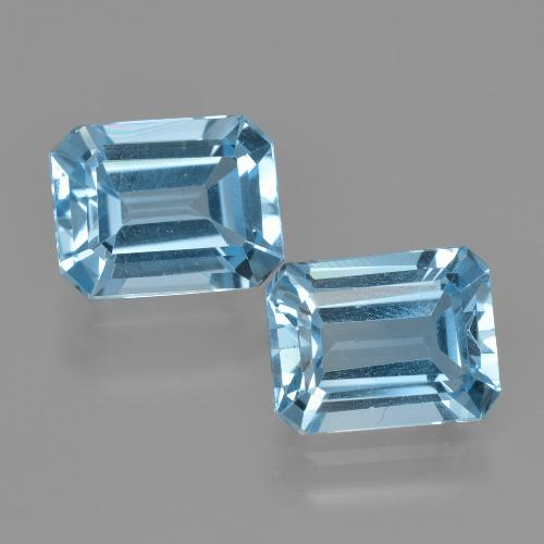 Swiss Blue Topaz Gem - 2.8ct Octagon Facet (ID: 405732)