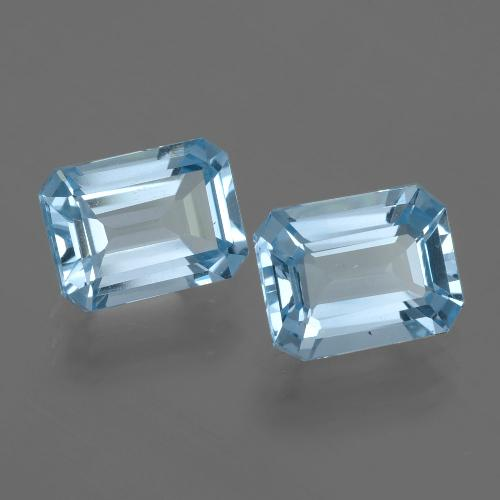 Swiss Blue Topaz Gem - 2.4ct Octagon Facet (ID: 405786)