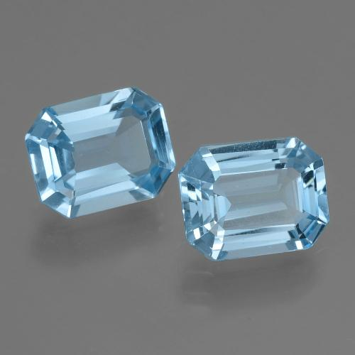 Swiss Blue Topaz Gem - 2.2ct Octagon Facet (ID: 405792)