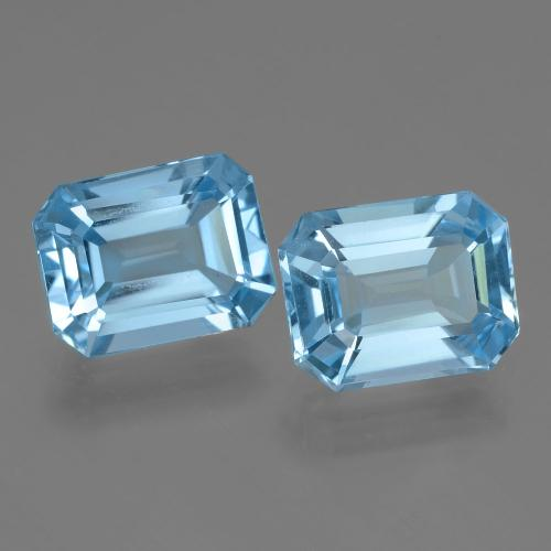 Swiss Blue Topaz Gem - 2.6ct Octagon Facet (ID: 405796)