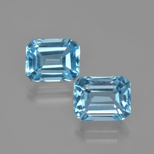Swiss Blue Topaz Gem - 3ct Octagon Facet (ID: 405847)