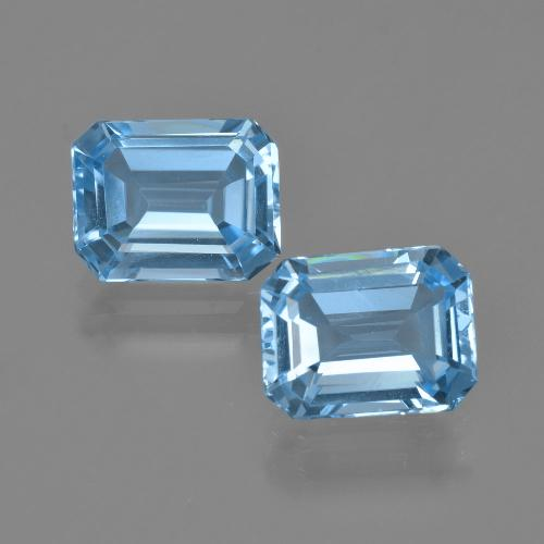 Medium Blue Topaz Gem - 2.4ct Octagon Facet (ID: 405850)
