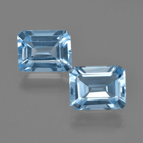 Swiss Blue Topaz Gem - 2.4ct Octagon Facet (ID: 405853)