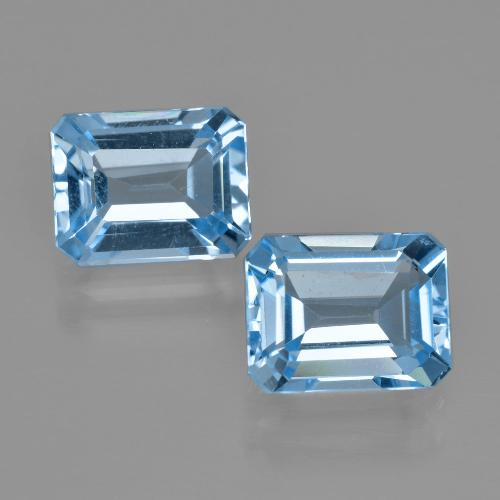 Blue Topaz Gem - 2.9ct Octagon Facet (ID: 405945)