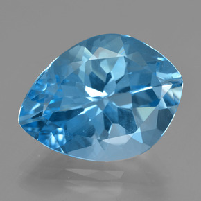Medium Blue Topazio Gem - 19.2ct Sfaccettatura fantasia (ID: 409759)