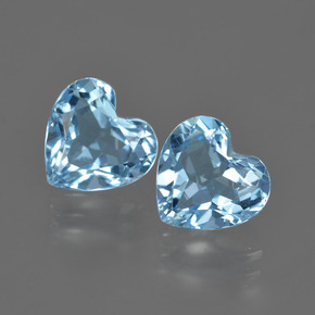Swiss Blue Topaz Gem - 2.1ct Heart Facet (ID: 409955)