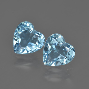 Swiss Blue Topaz Gem - 2.1ct Heart Facet (ID: 409956)
