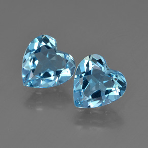 Swiss Blue Topaz Gem - 1.8ct Heart Facet (ID: 410024)