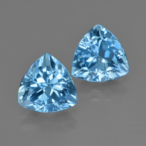 Swiss Blue Topaz Gem - 2.8ct Trillion Facet (ID: 413976)
