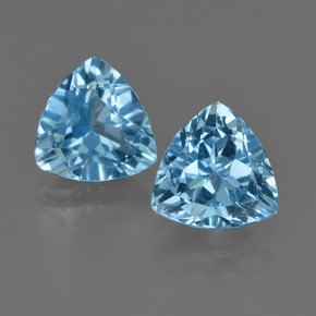 Light Cyan Blue Topacio Gema - 2.9ct Forma trillón (ID: 413979)